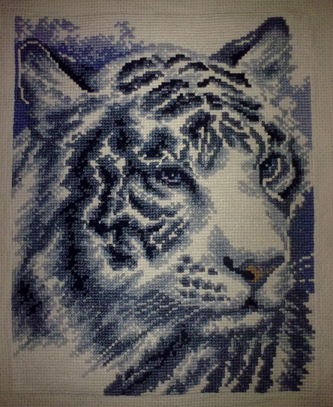 Вышивка тигра готовая